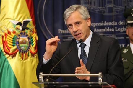 """Álvaro García Linera indicó que Obama """"se ha convertido en el nuevo jefe de campaña del presidente Evo porque en vez de debilitarlo, lo ha potenciado"""""""