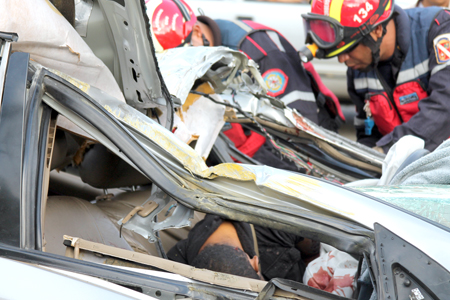 Accidente en la Panamericana generó varios kilómetros de cola