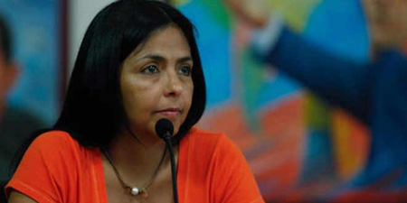 Delcy Rodríguez, ministra del Poder Popular para la Comunicación y la Información.