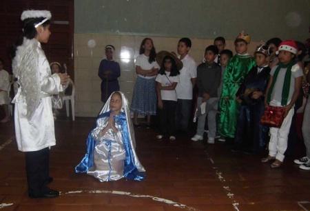 La Virgen María recibió la visita del ángel Gabriel