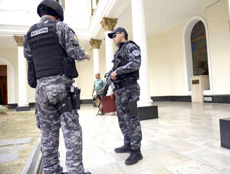 VENEZUELA-POLITICS-PARLIAMENT-EXPLOSION