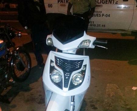 La moto está requerida desde diciembre de 2015 por la División de Investigaciones Contra el Robo de Vehículos Automotores