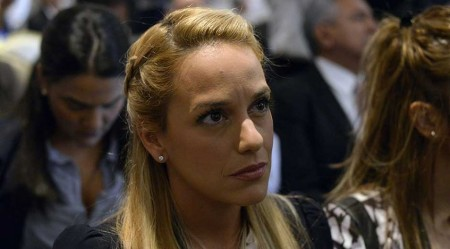 Lilian Tintori, esposa del dirigente de Voluntad Popular (VP