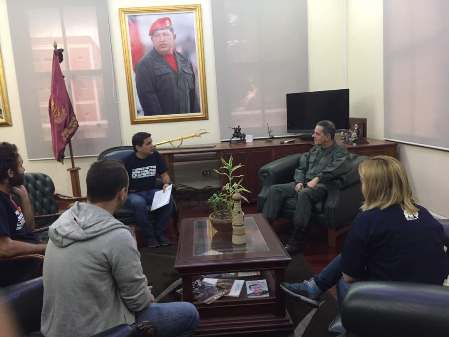 En Caracas fueron recibidos por el 2do comantante de la GNB