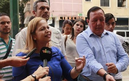 Mirabal: Hoy desde Bello Monte no solo recibimos la receptividad de vecinos y comerciantes, también tuvimos el apoyo de nuestro partido a nivel nacional. Foto: Nataly González